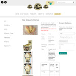 Ice Cream Cone Cookies 12 for $28.05 + Delivery or 30 for $70.12 (Free Freight over $50 Spend) @ Snowy Mountains Cookies
