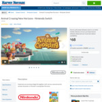[Switch] Animal Crossing New Horizons for $68 @ Harvey Norman Pick up Only
