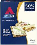 Atkins Low Carb Crispbread 100g $1.80 Delivered (S&S) @ Amazon AU