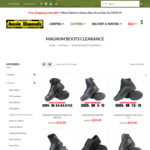 Magnum Boots All $50 (+ Shipping - Free over $69) at Aussie Disposals (Online Only)