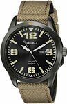 Seiko Men's SNE331 Sport Solar Black Stainless Steel Watch with Beige Nylon Band $117.55 Delivered @ Amazon AU