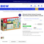 [Preorder] Nintendo Switch Animal Crossing Special Edition $469 + Delivery - BIG W (Home Delivery Only)