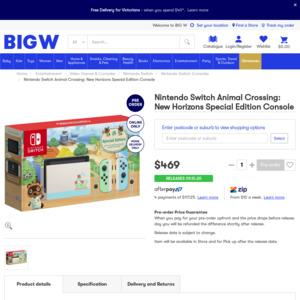 animal crossing switch console australia target