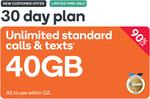 Kogan Mobile Prepaid 40GB/30 Days for $3.90 (New Customers)