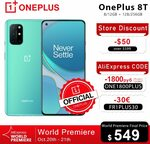 OnePlus 8T from 8GB/128GB - US$549 (~A$870.58) Delivered @ OnePlus Official Store via AliExpress