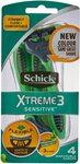 Schick Xtreme 3 Sensitive Men's Razors, 4 Pack $2.50 + Delivery (Free with Prime/ $39 Spend) @ Amazon AU