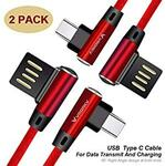 2 Pack-USB to Type C Data & Game Charging Cable 1M $7.64 (15% off) + Delivery ($0 with Prime/ $39 Spend) @ Luoke Amazon AU