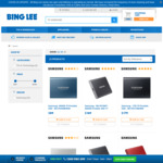 Samsung T5 500GB $89, 1TB $179, 2TB $329 + $6 Delivery ($0 VIC) @ Bing Lee ($85/$170/$313 Shipped @ Officeworks via Price Beat)