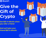 $50 in Bitcoin for Referee ($350 Min Deposit Required), $25 for Referrer @ Blockfi