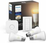 Philips Hue Smart Home Automation LED White Ambiance BC Starter Kit $99 + Delivery ($0 C&C) @ Bunnings