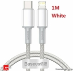 Baseus 1m PD 20W Fast Charging USB-C to iPhone Cable, 4 for $19.96 + $4.95 Delivery @ Shopping Square