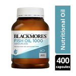 Blackmores Odourless Fish Oil Capsules 1000 400 Pack $20 @ Coles