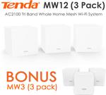 Tenda Nova MW12 Mesh Wi-Fi System 3-Pack $349 (Bonus MW3 3 Pack $0) + Delivery @ AV Mart Australia