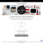 40%-80% off Lancome, Kiehl's, YSL, Ralph Lauren + More, $10 Delivery ($0 with $250 Spend) @ L'Oréal