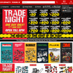 Up to 20% Store Credit ($50 to $1000) on $250 to $5000 Spend @ Sydney Tools