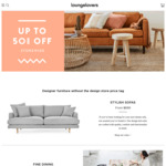 Up to 50% off Furniture + Delivery ($0 C&C) @ Lounge Lovers
