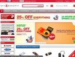 25% off Everything - MyMemory.co.uk