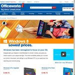 Windows 8 Pro Pack or Pro Upgrade $48.72ea at Officeworks