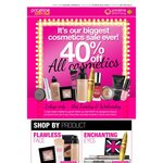 40% off All Cosmetics at Priceline Tuesday 23/04/13 and Wednesday 24/04/13