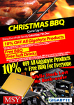 MSY - 10% off All Gigabyte + Free BBQ / Soft Drinks at Selected Stores