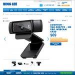 Logitech HD Pro WEBCAM C920 - $69 + $2 Delivery @Bing Lee