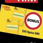 Free $10 Optus Sim @ Coles Express with Any ATM Balance Enquiry / Withdrawal