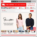 UNIQLO Free Shipping on Orders over $20 This Long Weekend