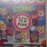 Coles 1/2 Price Specials 30/9: Smith's/Doritos 150-175g $1.59, Coke 1.25L $1.39, Drumsticks 4-6pk $3.99 + More