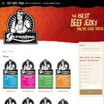 Geronimo Jerky 50% off 40g Bags - Postage $8.25+ (10 Bags)