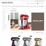 KitchenAid Mixer $585 @DJ's (Select Colours) + Ice Cream Maker - with Ent Book/Others 10% off Gift Card ($565 after Price Match)