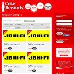 Coke Rewards - JB Hi-Fi: ($10) 200 Points, ($20) 400 Points, ($50) 1000 Points ($100), 2000 Points