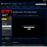 [PS4] Wolfenstein: The New Order $17.95 @ AU PSN Store
