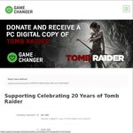 [GameChanger] Donate $1 or More to Get Tomb Raider 2013 for Steam