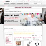 Kenwood Chef and Major Attachments Up To 40% off + $9.99 Delivery
