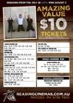 All Tickets $10 @ Reading Cinemas, Rhodes, NSW