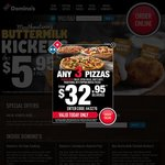 Domino's Pizza 40% off (Excludes Value and Extra Value Ranges)