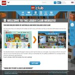 Free Digital Membership and Quarterly Lego Club Magazine