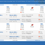 Philippine Airlines - Melbourne to Hong Kong Return $496