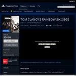 Tom Clancy's Rainbow Six Siege 50% off - PS4 $24.95, PC $29.97, XB1 $35.85