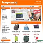 Extra 5% off Coupon Code at Bagworld.com.au Min Spend $49.95