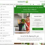 Win 1 of 31 $1,000 Woolworths Online Credits from Woolworths [With Purchase]