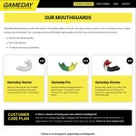 Gameday Custom Mouthguards - From $49 (+ FREE Customer Care Plan) + Free Delivery Australia-Wide