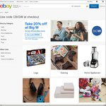 20% off BIG W @ eBay (Plus Postage)