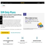 3GB Data/Month, Unlimited Talk & Text - $25/Month (12 Month Plan) @ Optus