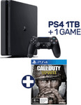 PlayStation 4 1TB Console + Call of Duty: WWII $429 @ EB Games