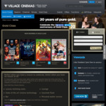 Village Cinemas $20 Gold Class Ticket (Normally $32-$42 According to Session Time)