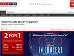Disney in Concert - Half Price Tickets - 2x A-Reserve for $89 (Melbourne only)
