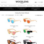 20% off All 'Colour' Series Handmade Bamboo Sunglasses @ Woodlens.com.au