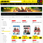 20% off All Blu-Ray and DVDs at JB Hi-Fi