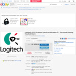 Logitech G933 Artemis Spectrum Wireless 7.1 Surround Gaming Headset $183.93 Delivered @ Mediaform on eBay